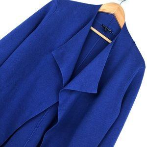 Eileen Fisher Blue Purple waterfall Cardigan S